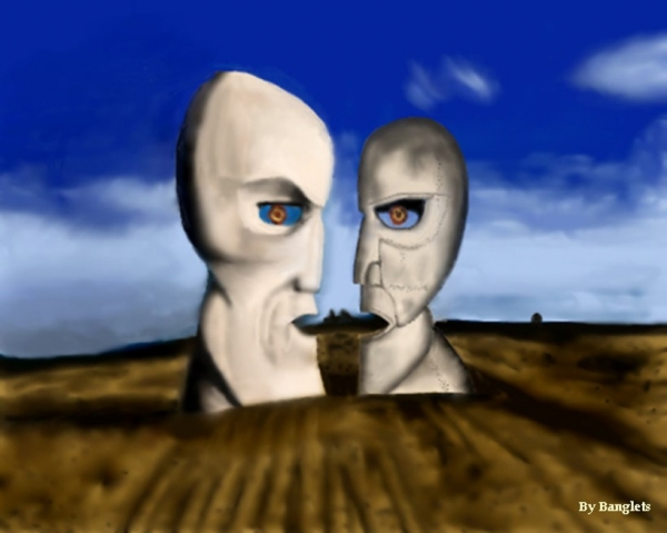 Drawing of Pink Floyd, The Division Bell