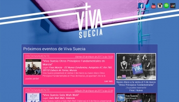 Redesign of the website of Viva Suecia band